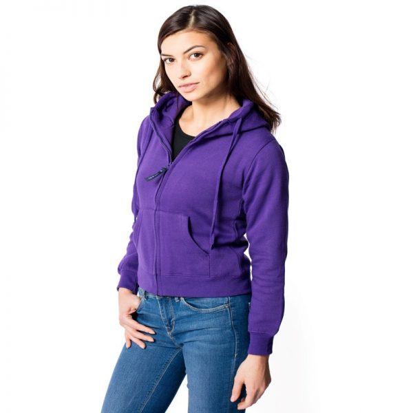 Ladies Full Zip Hooded Sweatshirt