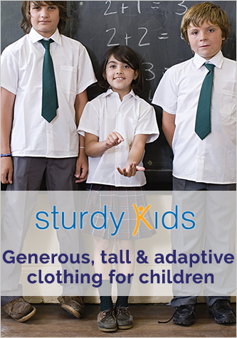 Generous, tall and adaptive clothing for children