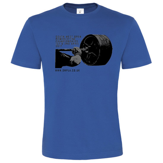 South West Powerlifting 2017 Champs T-Shirt in Blue