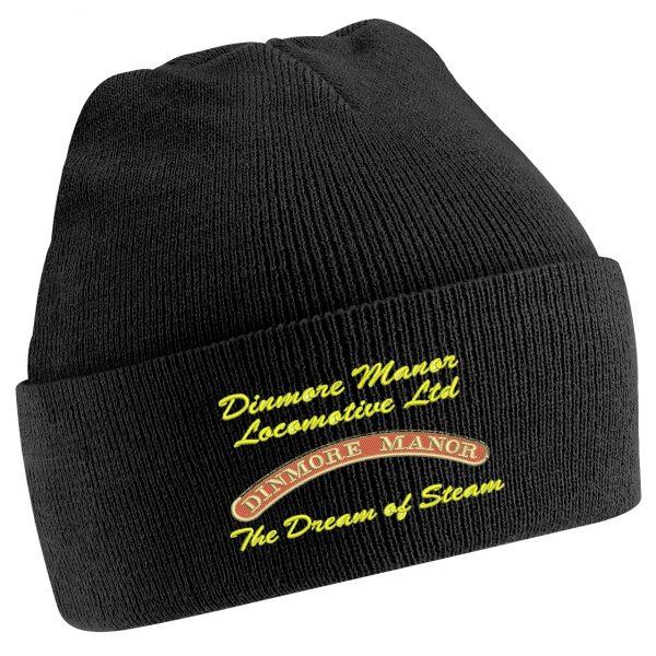 Dinmore Manor Beanie Hat in Black