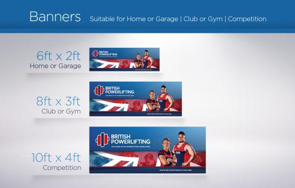 British Powerlifting Banners