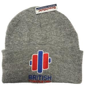 British Powerlifting Beanie Hat in Grey