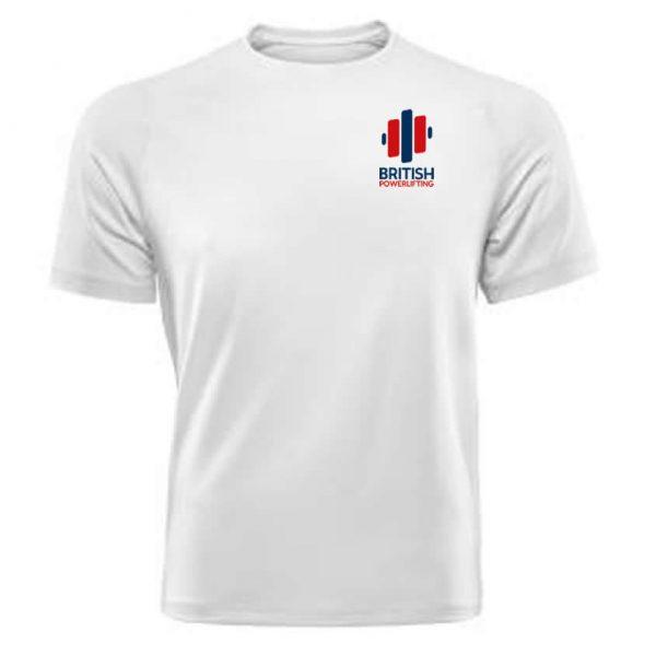 British Powerlifting Team T-Shirt in White