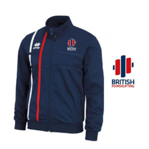 British Powerlifting Official zip up tracksuit top