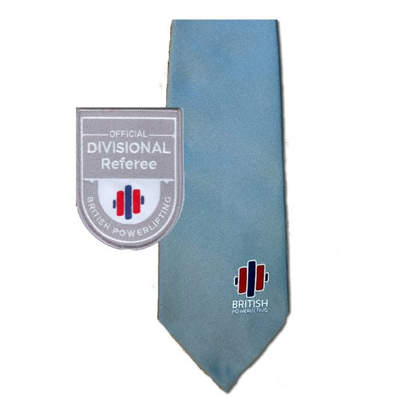 British Powerlifting Divisional Tie and Badge