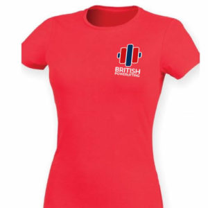 Ladies British Powerlifting Tee