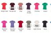 Ladies Powerlifting T-Shirt Colours