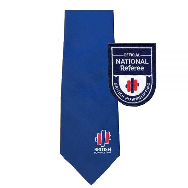 British Powerlifting National Tie & Badge