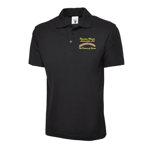 Dinmore Manor Men's Polo Shirt in Black
