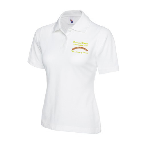 Dinmore Manor Ladies Polo in White