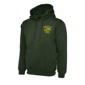 Foremarke Hall Hoodie in Bottle Green