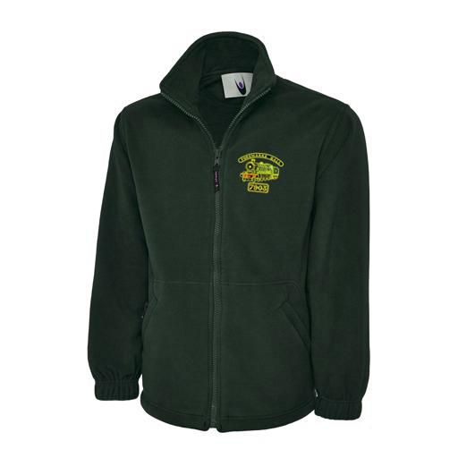 Foremarke Hall Fleece Jacket in Bottle Green