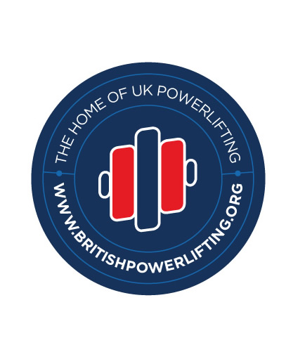 British Powerlifting window sticker