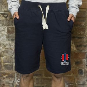 British Powerlifting Embroidered Casual Shorts