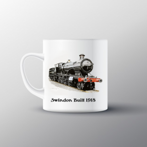 Swindon Built 1918 loco Mug - Black